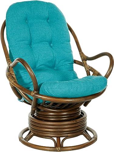 Office Star Kauai Rattan Swivel Rocker Chair Review