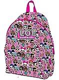 L.O.L Surprise - Mochila escolar con bolsillo frontal para niños y niñas