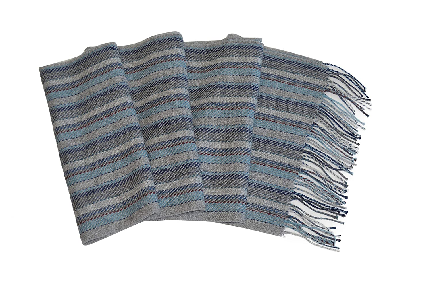 Invisible World Womens or Mens 100/% Baby Alpaca Scarf Handwoven in Peru 12842203