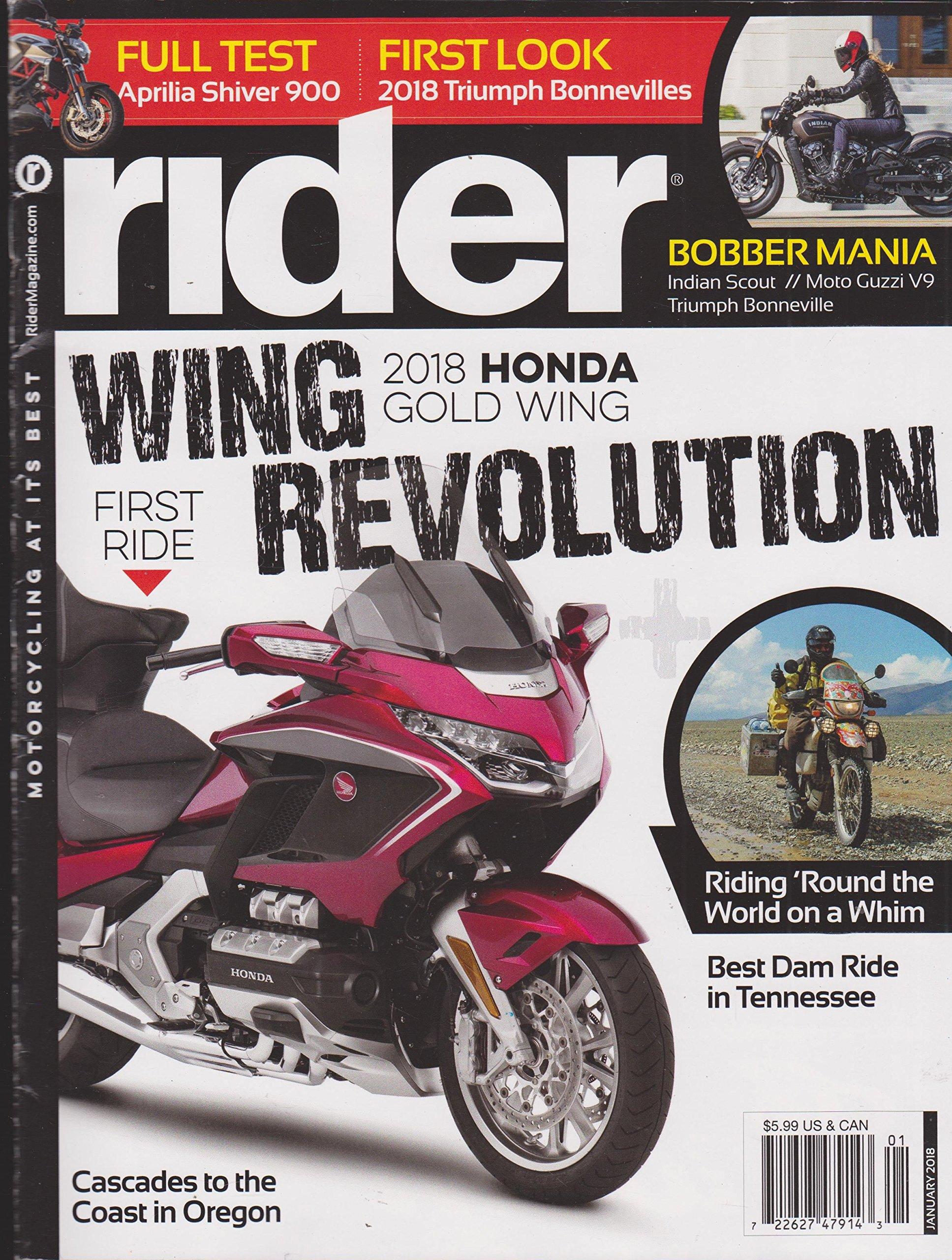 Rider Magazine Wing Revolution Honda Gold Wing January 2018 Various