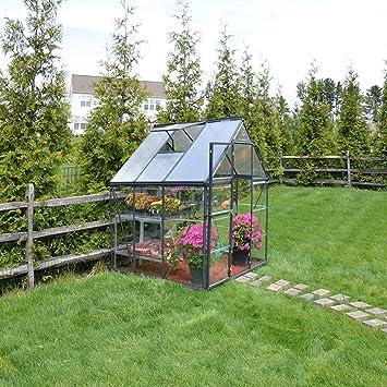 Palram Aluminium Gewachshaus Gartenhaus Hybrid 6x6 190x185x209 Cm