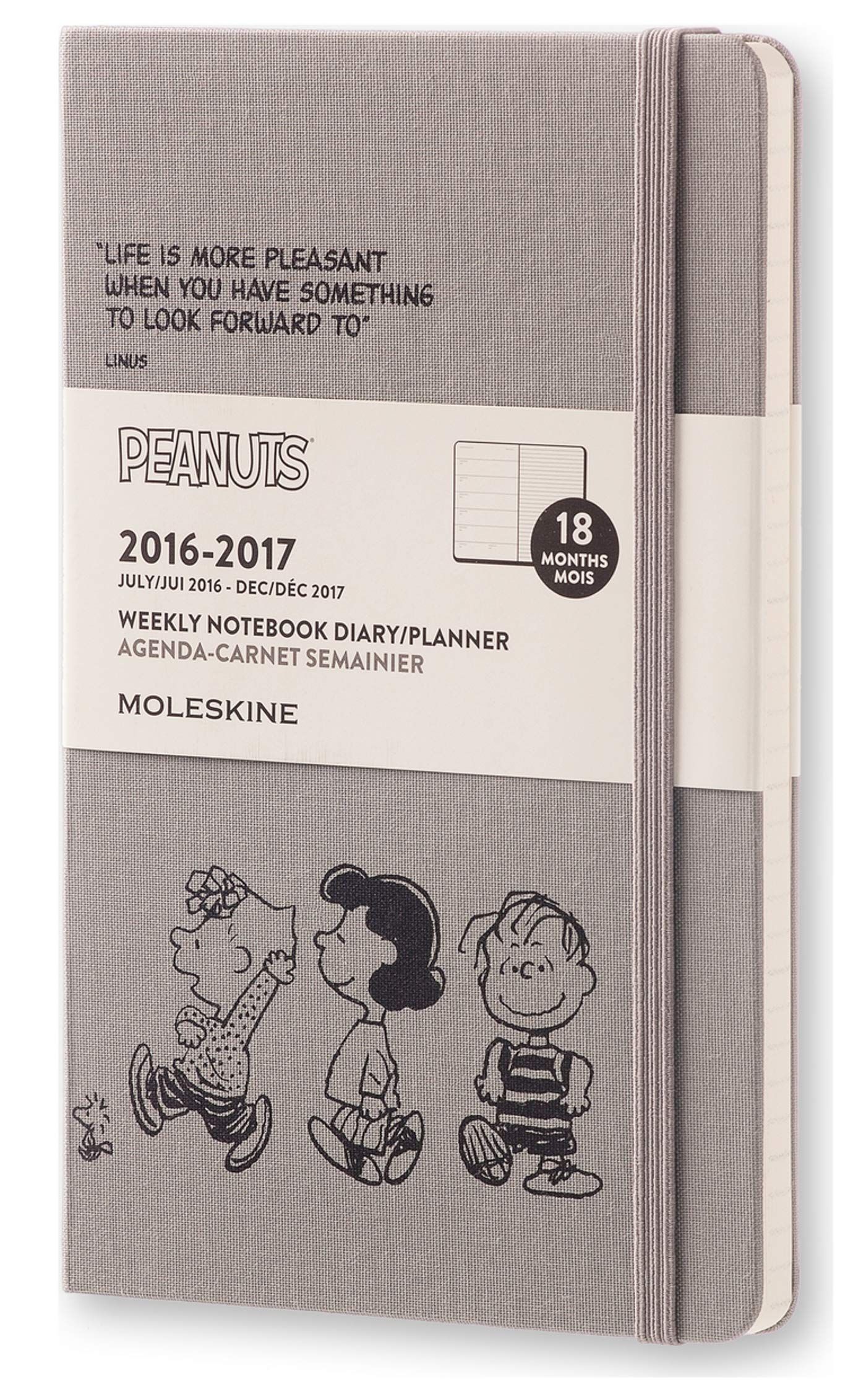 Amazon In Buy Moleskine 2016 2017 Peanuts Limited Edition Weekly Notebook 18m Large Dark Grey Hard Cover 5 X 8 25 Book Online At Low Prices In India Moleskine 2016 2017 Peanuts Limited Edition Weekly