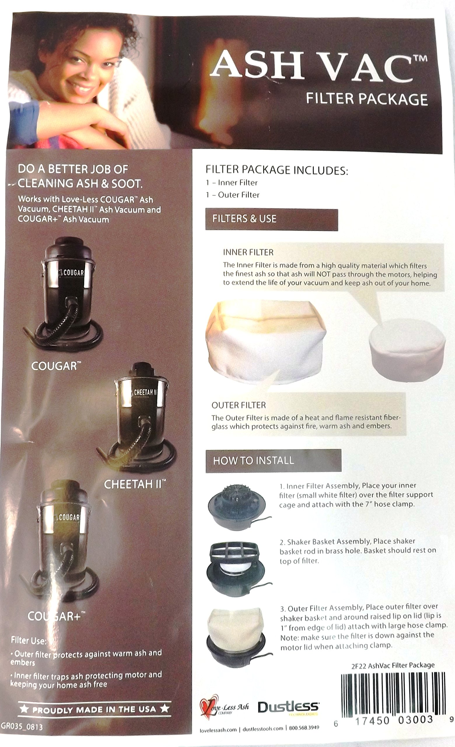 Filter Package for Cheetah and Cougar Ash Vacuums