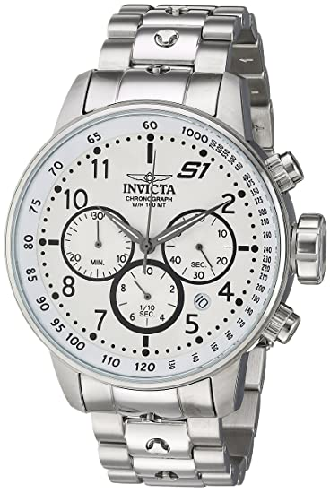 Amazon.com: Invicta Mens S1 Rally Quartz Watch with Stainless-Steel Strap, Silver, 22 (Model: 23078: Watches