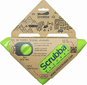 Scrubba Portable Wash Bag – Hand Washing Machine for Hotel and Travel – Light and Small Eco-friendly Camping Laundry Bag for Washing Clothes Anywhere