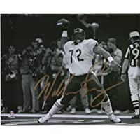 """William Perry Chicago Bears Autographed 8"""" x 10"""" Black & White Super Bowl XX Spike Photograph - Autographed NFL Photos photo"""