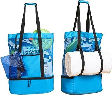 Beach Towel Total Tote in 2-in-1 With Zip Closure