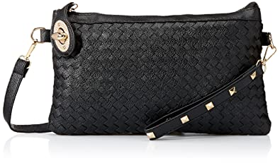d114e5805f54 Ladies Punk Rivet Studded Spike Quilted Evening Party Clutch Purse Wallet  Handbag