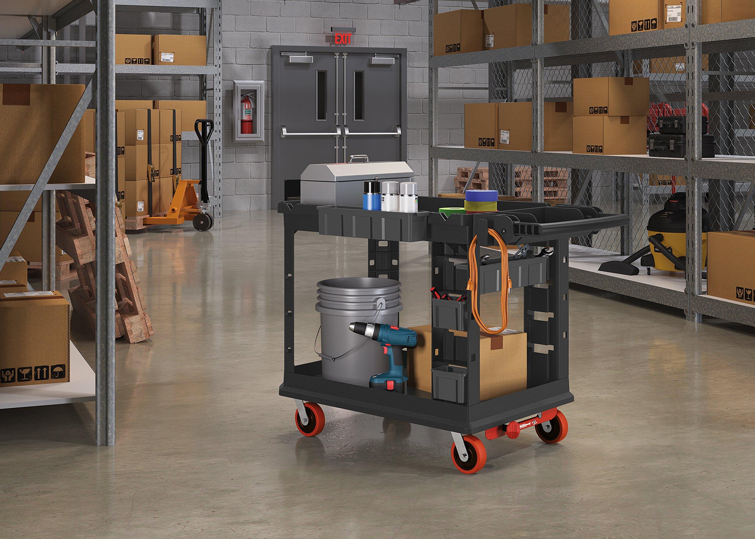 Suncast Commercial PUCHD1937 Utility Cart, Heavy Duty Plus 19 x 37, 500 Pounds Load Capacity, black by Suncast Commercial (Image #8)