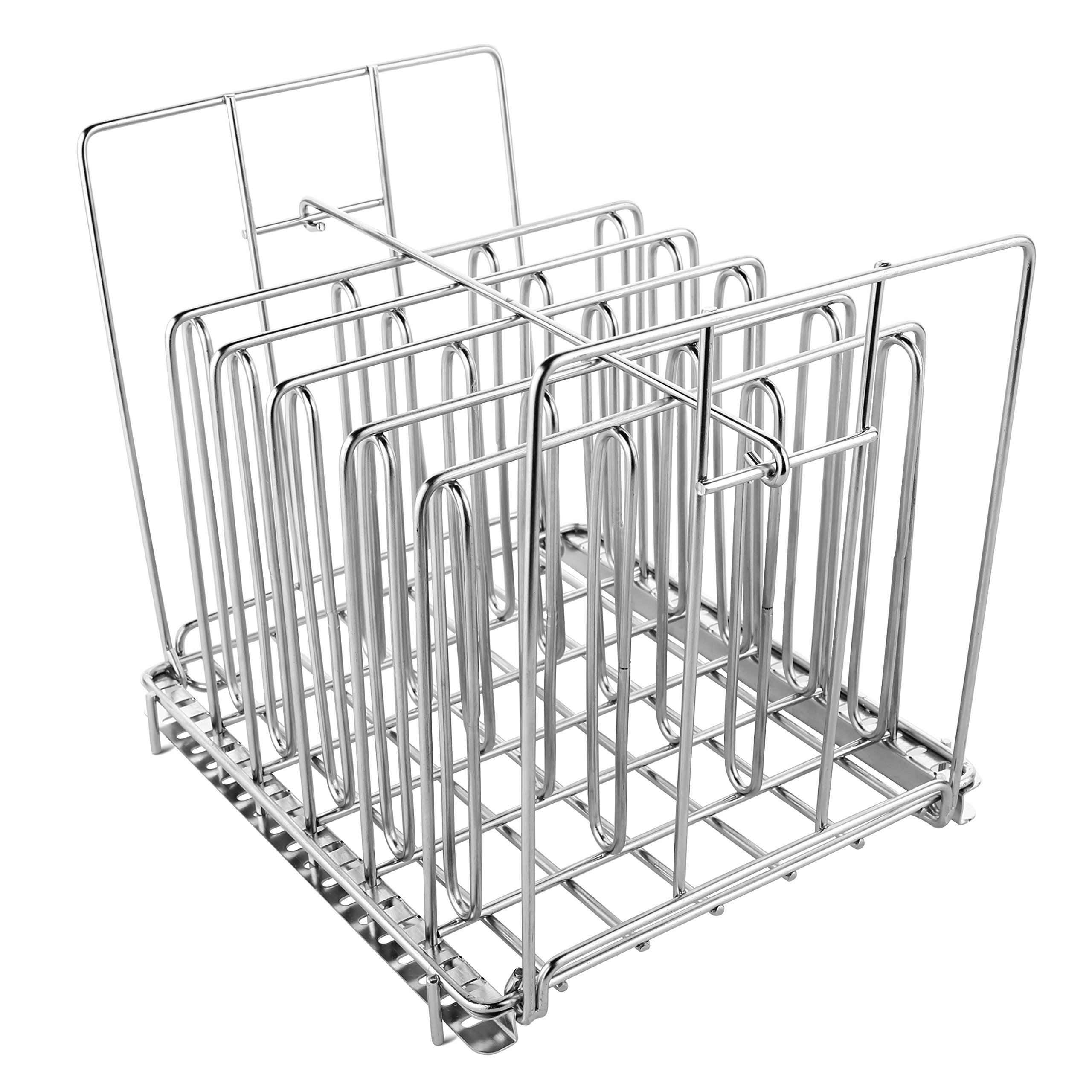 Stainless Steel Sous Vide Rack with Adjustable No-Float Top Bar for Most 12qt Containers by Geesta