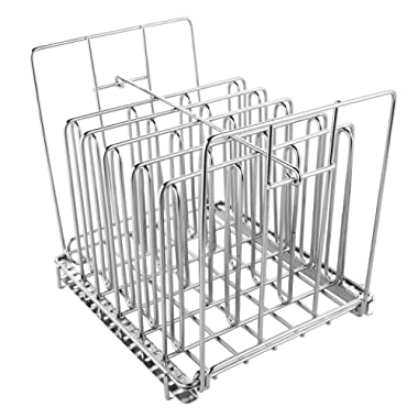 Stainless Steel Sous Vide Rack with Adjustable No-Float Top Bar for Most 12qt Containers