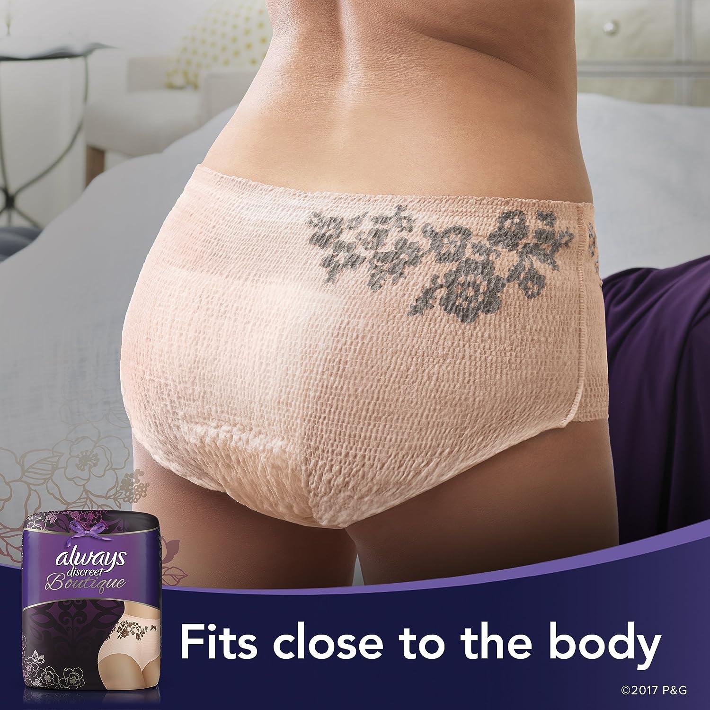 cb4bd74df Amazon.com  Always Discreet Boutique Incontinence   Postpartum Underwear  for Women