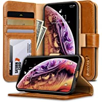 JisonCase iPhone Xs Max Leather Ultra Thin Case (Brown)