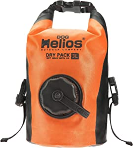 Dog Helios 'Grazer' Waterproof Outdoor Travel Dry Food Dispenser Bag, 3L, Orange