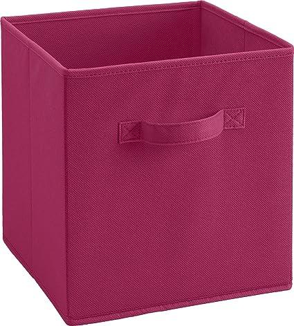 Genial SystemBuild Fabric Storage Bin, Dark Pink