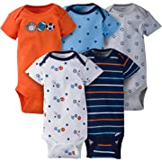Gerber Baby Boys' 5-Pack Variety Onesies Bodysuits, Little Athlete, 0-3 Months