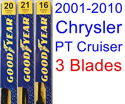 2001-2010 Chrysler PT Cruiser Replacement Wiper Blade Set/Kit (Set of 3