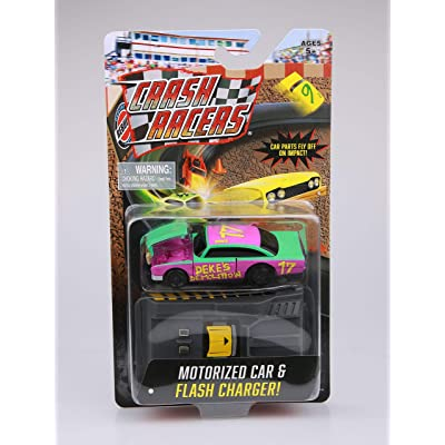 Far Out Toys Crash Racers Vehicle - Deke's Demolition - Motorized Car: Toys & Games