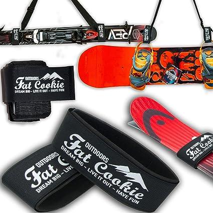 Amazon.com: Transporte para esquís y bastones, correa para ...