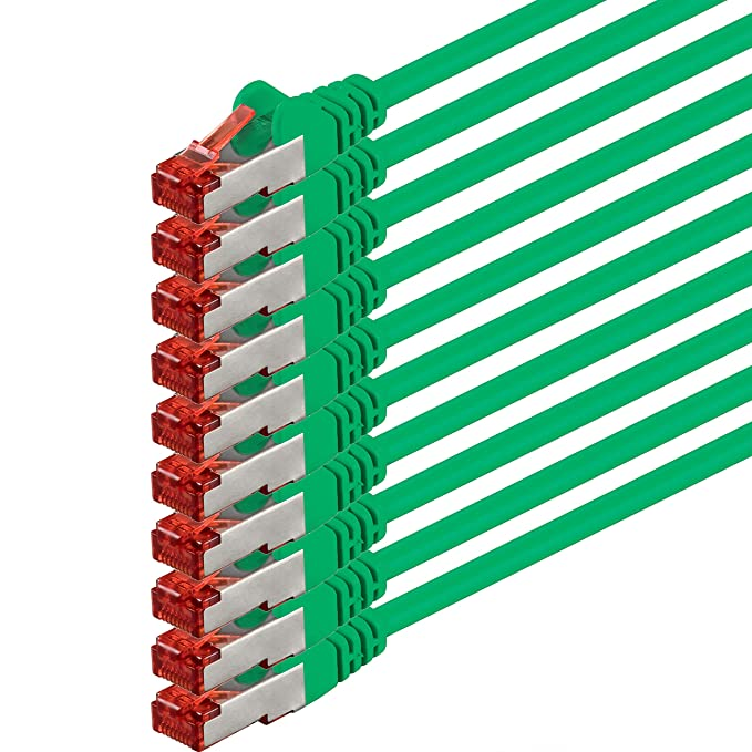 40 opinioni per 2m- verde- 10 pezzi- Rete Cavi Cat6 | S-FTP | CAT 6 | doppia schermatura | PIMF