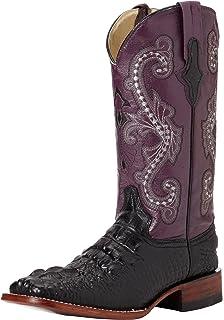 6ddb3ac0260 Amazon.com | Ferrini Women's Embossed Cross Western Boot | Mid-Calf