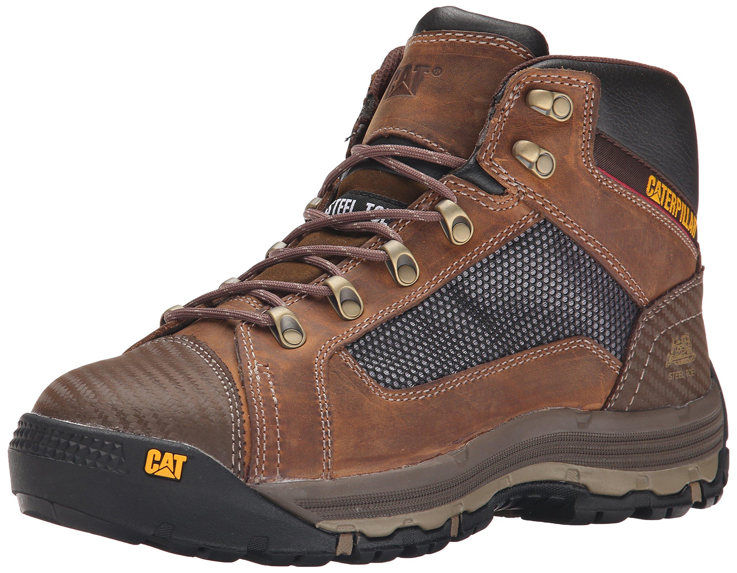 Caterpillar Men's Convex Mid Steel Toe Work Boot, Dark Beige, 11 M US
