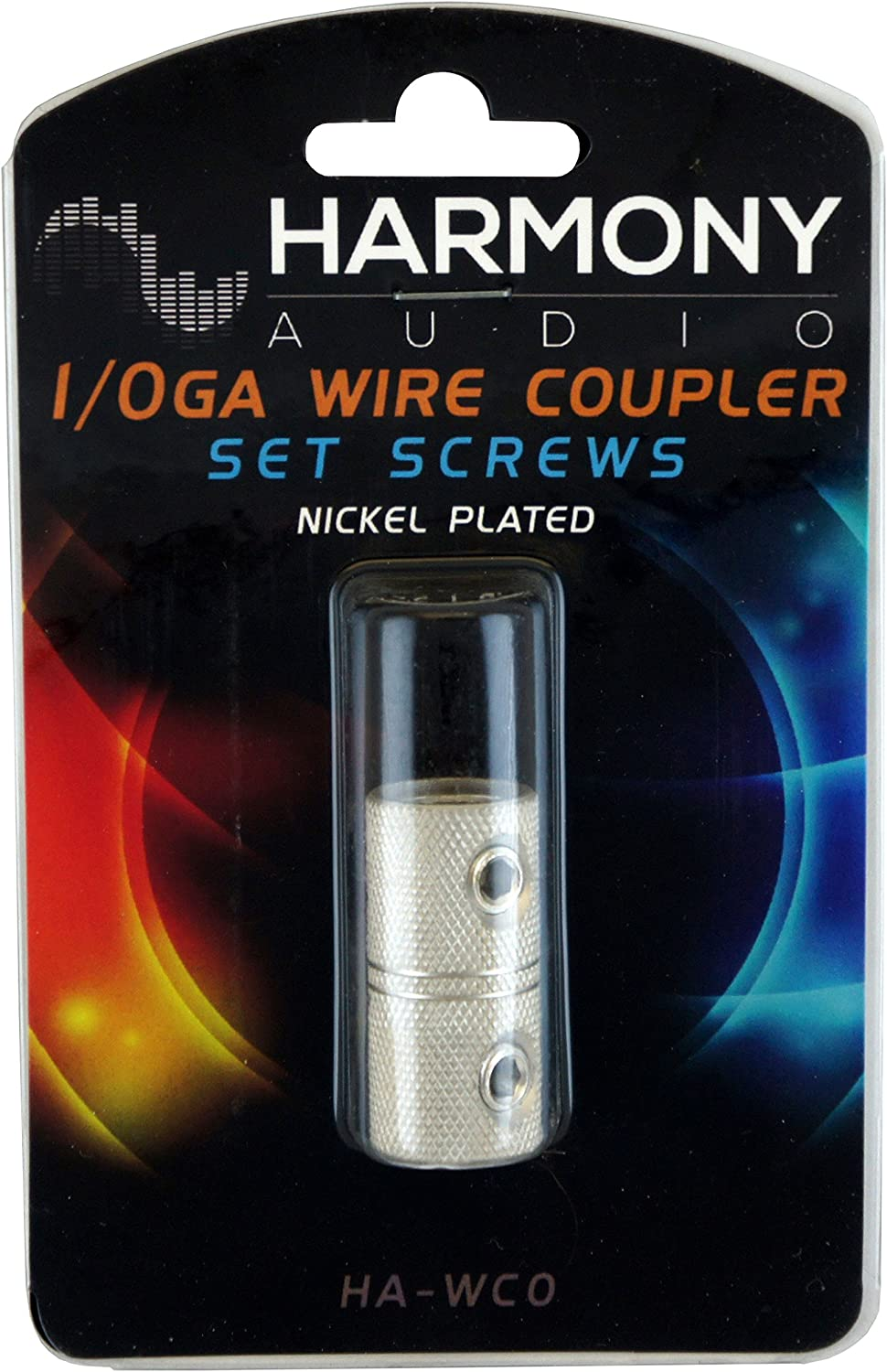 Nickel Plated Harmony Audio HA-WC0 Car Stereo Power or Ground 1//0 Gauge Wire Splice Coupler