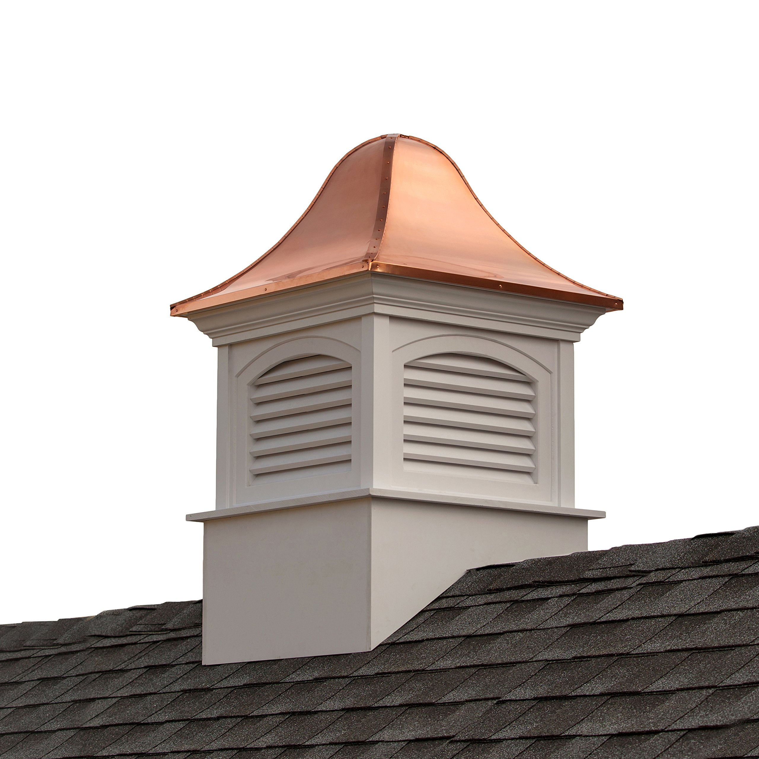 Fairfield Vinyl Cupola with Copper Roof 30'' x 49'' by Good Directions