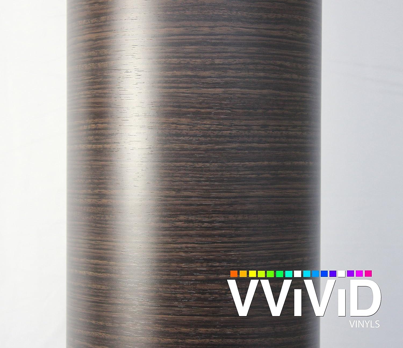 Amazon.com: VVIVID Dark Ebony Wood Grain Faux Finish Textured ...