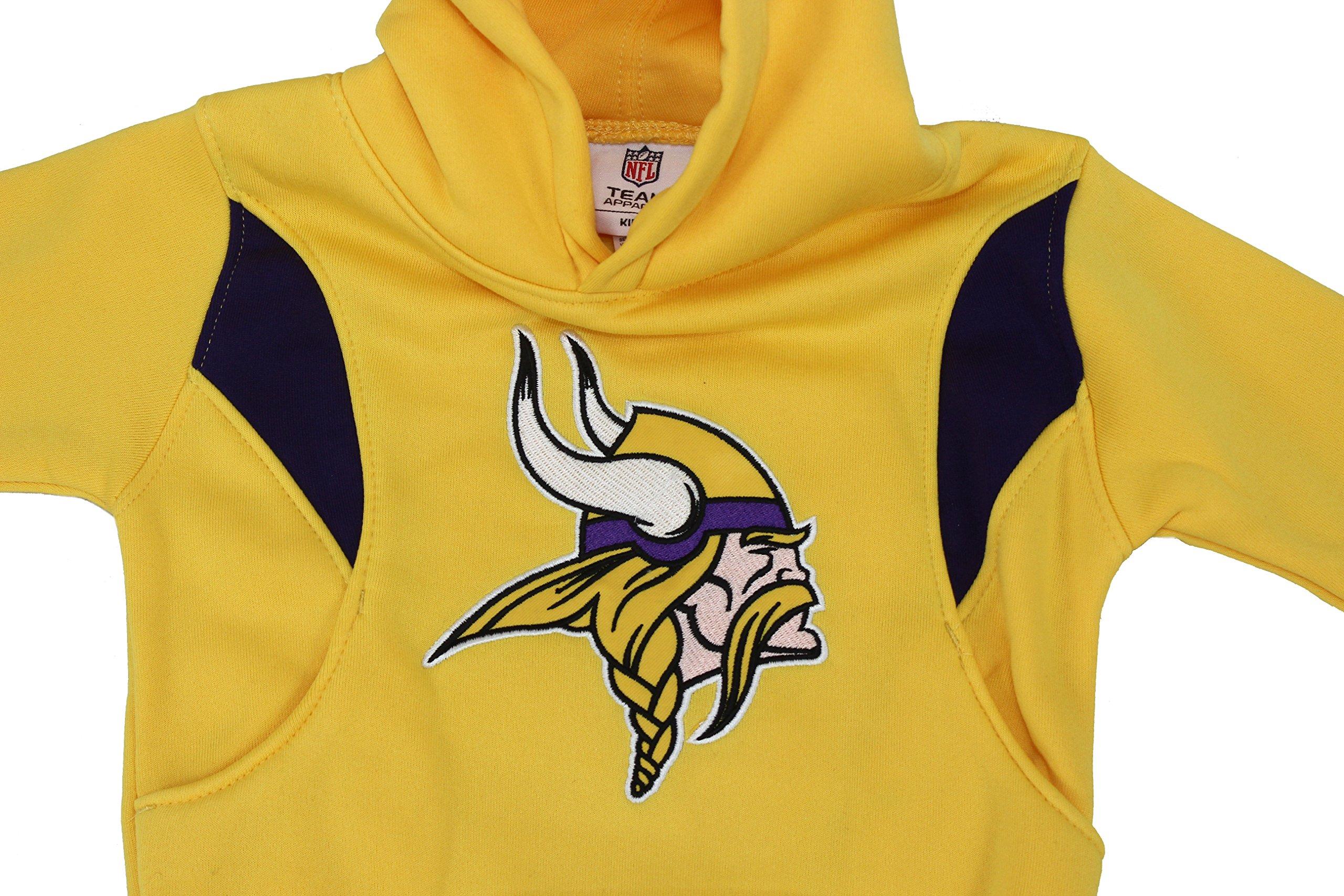 100% authentic f86ab 35fad Team Apparel NFL Boy's Kids Minnesota Vikings Football Embroidered Hoodie  Sweat Shirt