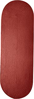 product image for Colonial Mills Bristol Polypropylene Braided Rug, 2-Feet by 6-Feet, Rosewood