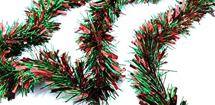 Christmas Tinsel Garland.Craftmore Christmas Tinsel Garland