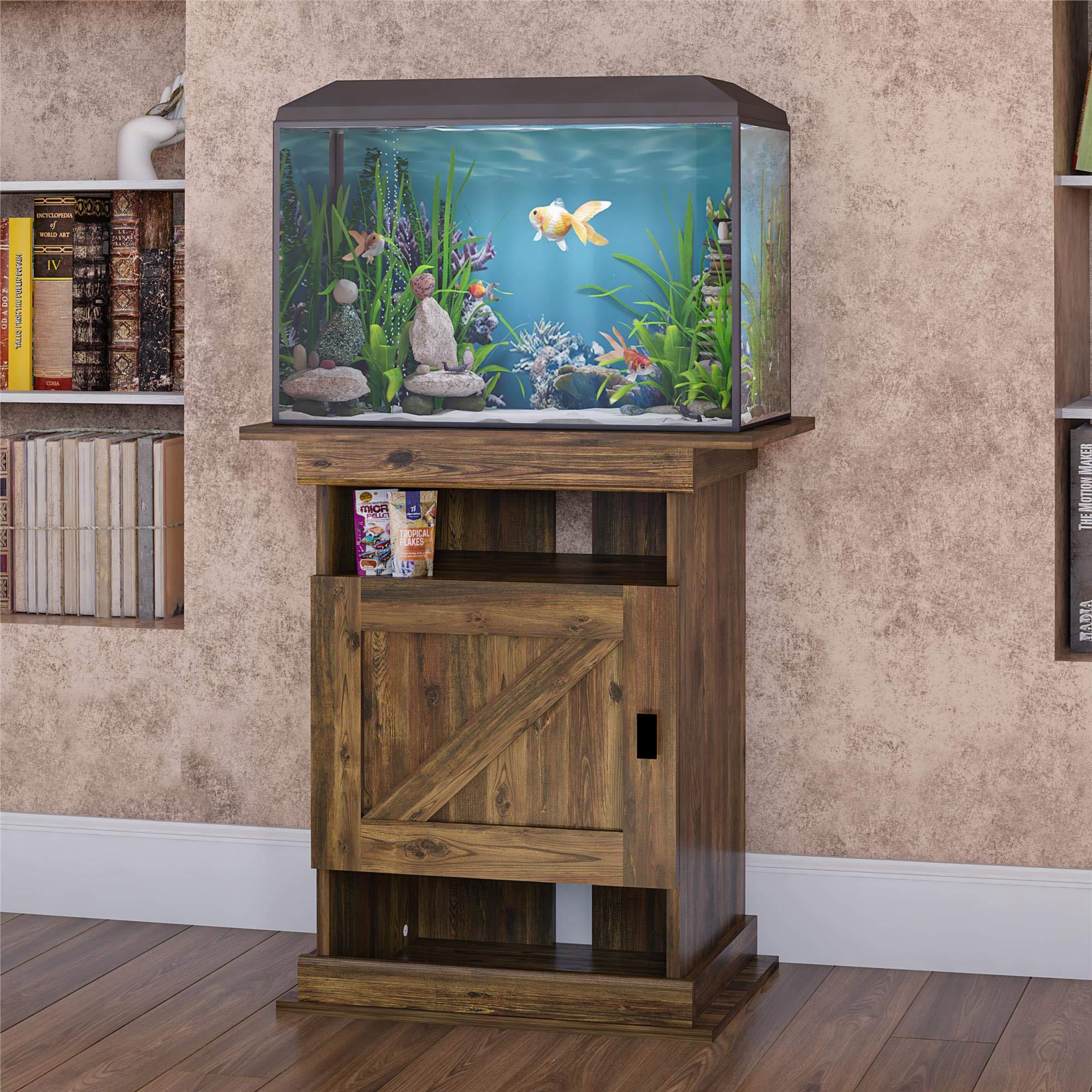 Ollie & Hutch Farmington Flipper, Rustic aquarium stand
