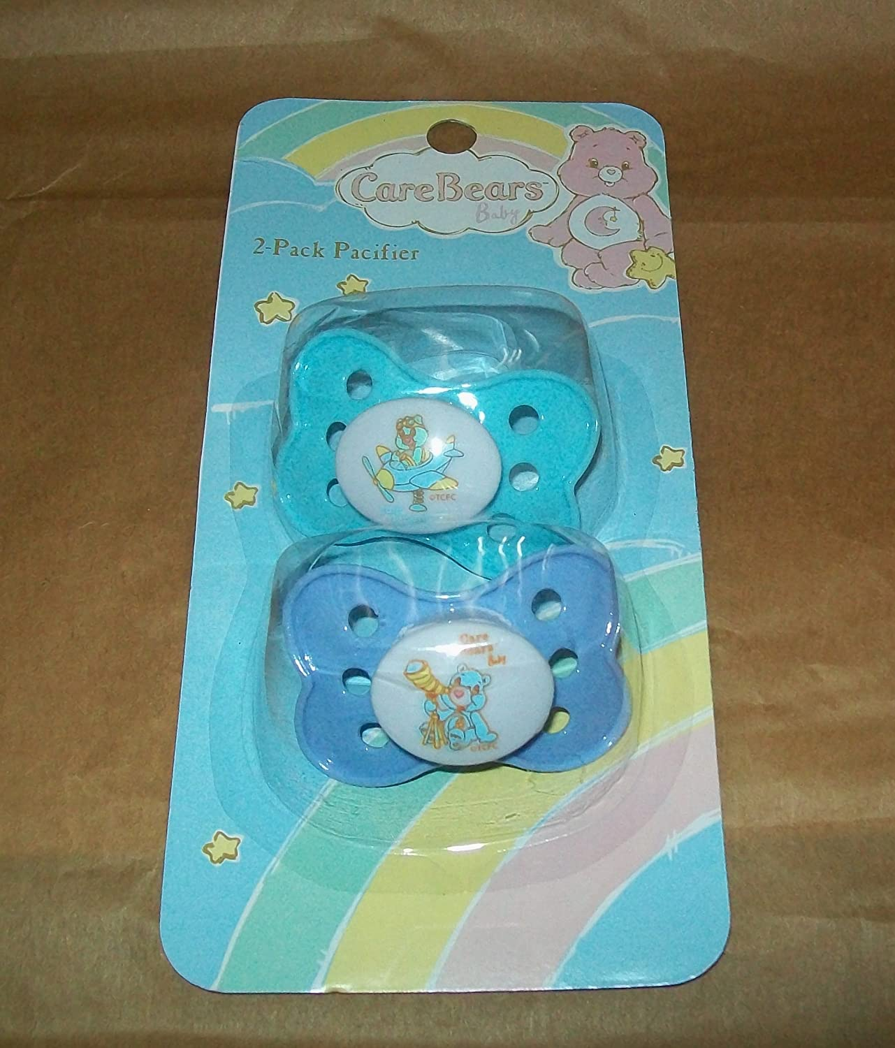 Care Bears Baby BPA Free Pacifiers Pink//Aqua Set Of 2 NEW