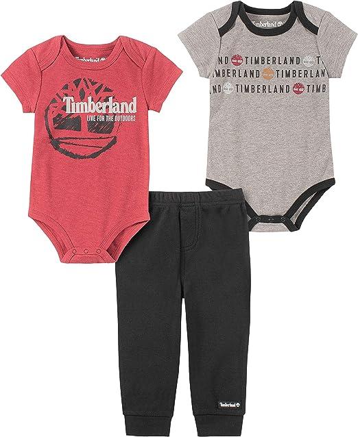 Engreído Escarpa al exilio  Timberland Baby Boys' 3 Pieces Bodysuit Pants Set, Red/Gray, 12 Months:  Amazon.co.uk: Clothing