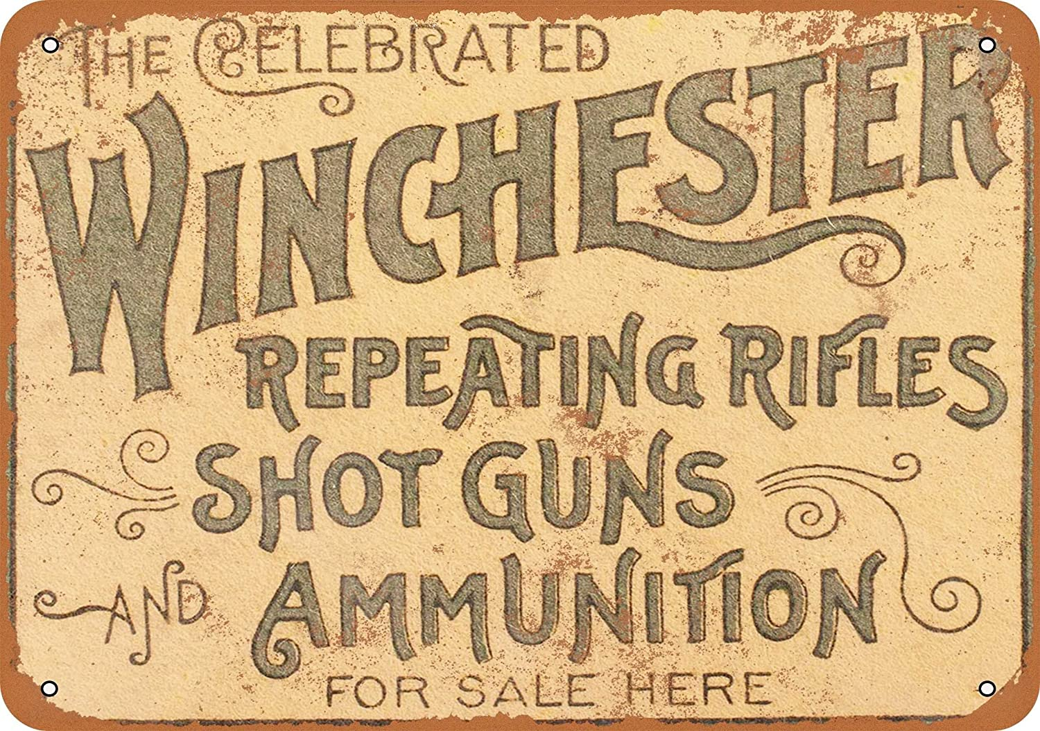 Amazon.com: Wall-Color 7 x 10 METAL SIGN - 1897 Winchester Repeating ...