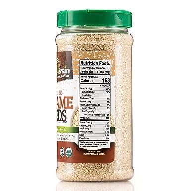 Semillas de sésamo orgánicas cerebrales: Amazon.com: Grocery ...