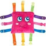 """BUCKLE TOY """"Bella"""" - Toddler Early Learning Basic Life Skills Children's Plush Travel Activity"""