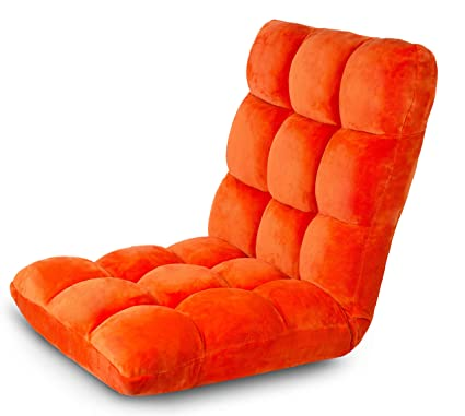 Elegant BirdRock Home Adjustable 14 Position Memory Foam Floor Chair U0026 Gaming Chair  (Orange)