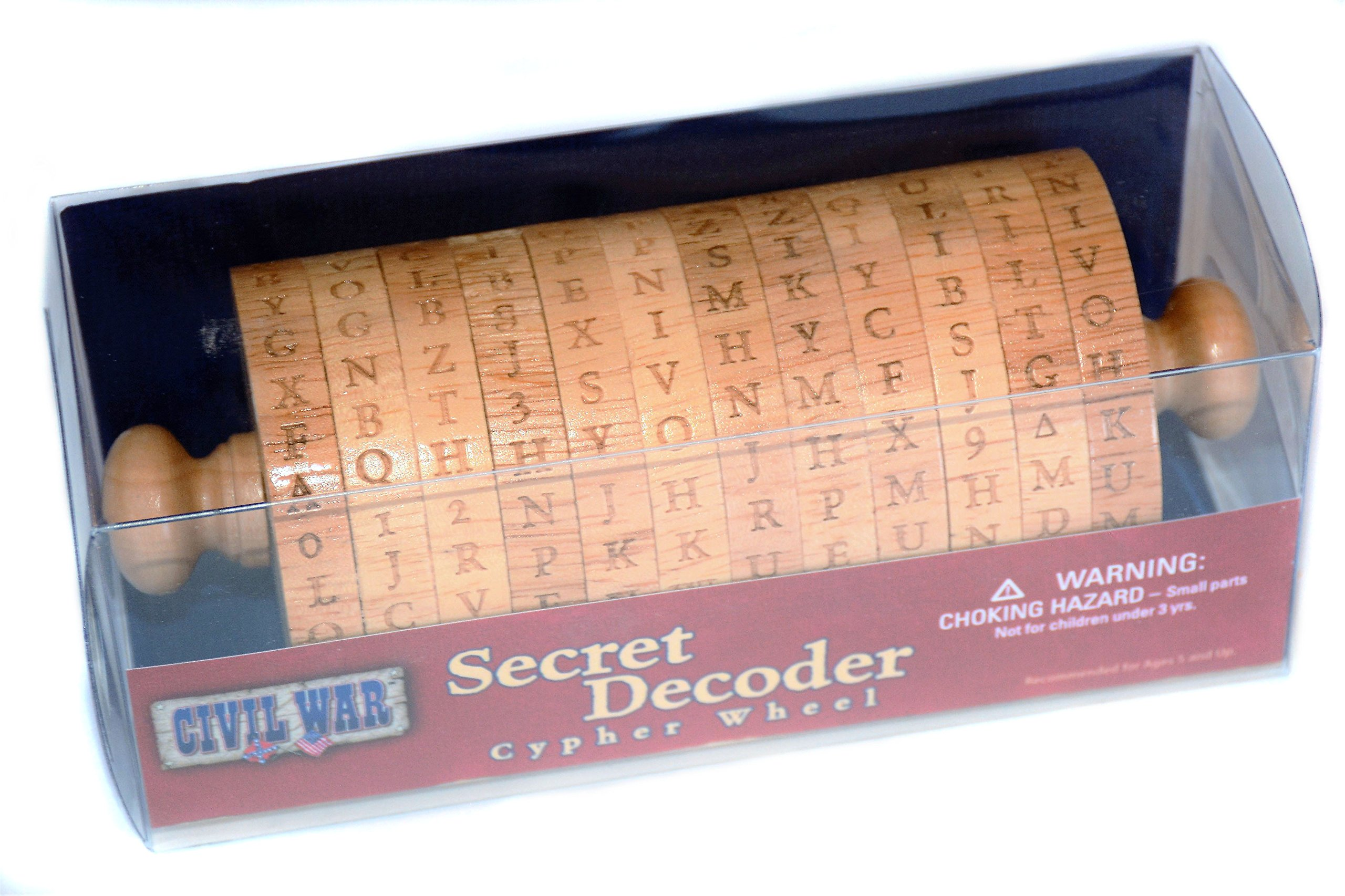 Genuine Cipher Wheel Spy Decoder Educational Historical Replica to Encrypt and Decode Secret Messages and Passwords for a Detective or Spy by Civil War
