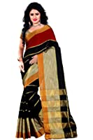 Trendz Women's Cotton Silk Saree With Blouse Piece (Tz_Kashish_Red_Red)