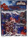 Spiderman 48 teilges juego y Geburtstagsset - 6 juguetes diferentes para llenar durante 8 bolsos de fiesta