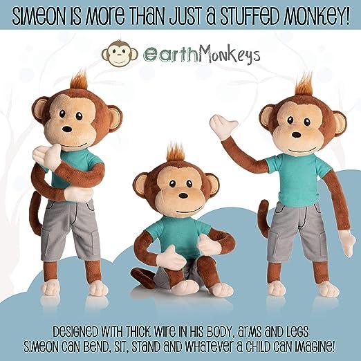 Amazon.com: Peluche de mono de peluche con peluche de mono ...