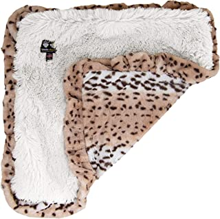 product image for Bessie and Barnie Aspen Snow Leopard/ Snow White Luxury Shag Ultra Plush Faux Fur Pet, Dog, Cat, Puppy Super Soft Reversible Blanket (Multiple Sizes)
