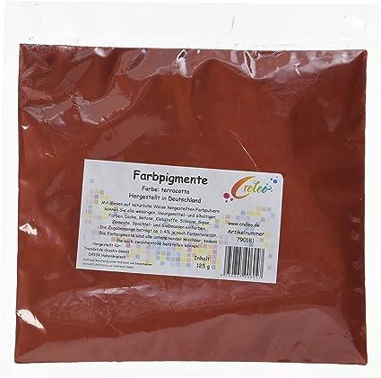 Creleo 790181 de Coloures de Tinta para de Cemento de Yeso de Silicona con diseño de Artelin de Tiza de y Mucho más, 125 G, Colour Terracota