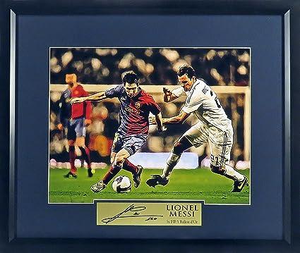 "12c5cbdb163 FC Barcelona Lionel Messi ""On the Attack"" 11x14 Photograph (SGA Signature  Engraved Plate"