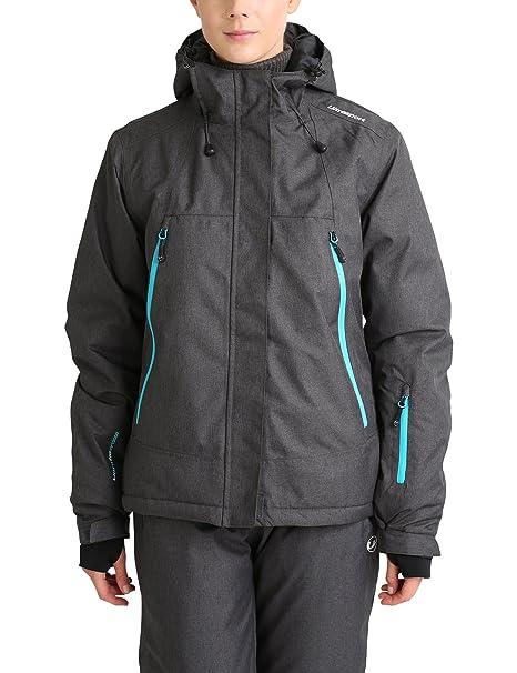 Ultrasport Chaqueta de Esquí para Mujer Mel - Chaqueta Deportiva para Mujer Impermeable y Transpirable con
