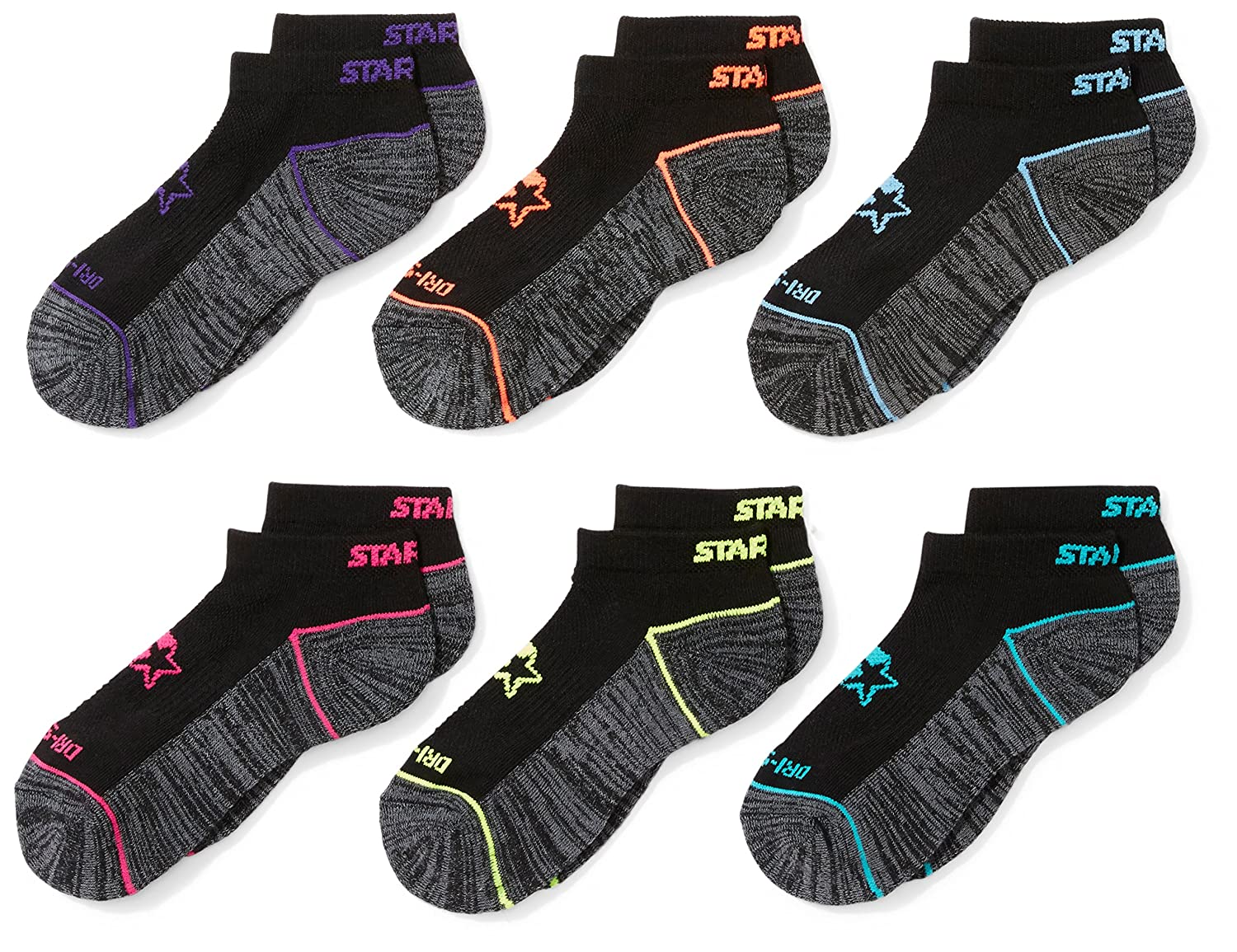 Starter Girls 6-Pack Athletic Low-Cut Ankle Socks Exclusive