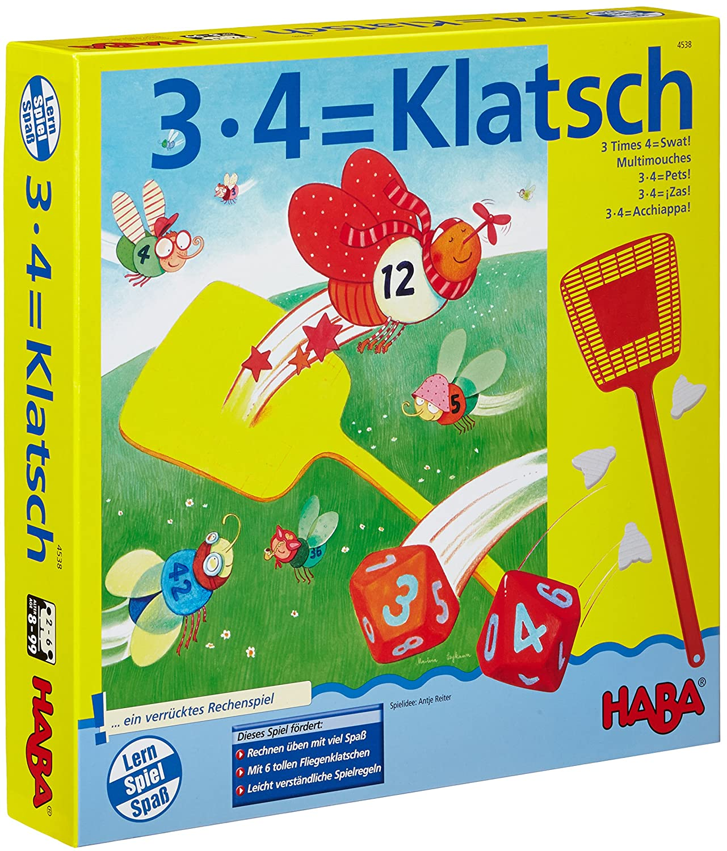 lustiges Lernspiel f/ür 2-6 Spieler ab 8 Jahren Konzentrationsspiel zum spielerischen Trainieren des kleinen Einmaleins HABA 4538-3X4=Klatsch