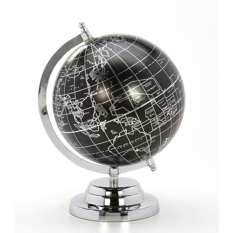 Hosley's 10.5 High Globe w/Aluminum Base. Ideal Gift for Wedding, Teacher, College Student, Dorm, Study, Den, Home Office LED Votive Candle Gardens O5 HG Global FBA-G08628ON-1-EA